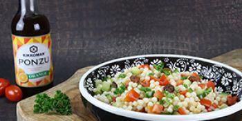 Salade van parelcouscous met ponzu